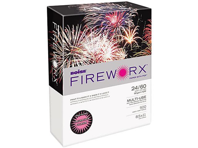 Boise MP2241-FA FIREWORX Colored Paper, 24lb, 8-1/2 x 11, Firecracker Fuchsia, 500 Sheets/Ream