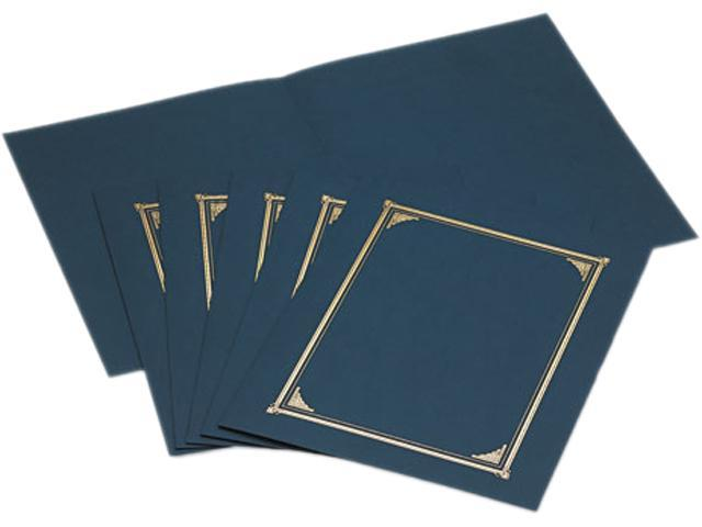 Geographics 45332 Certificate/Document Cover, 12-1/2 x 9-3/4, Navy Blue, 6/Pack