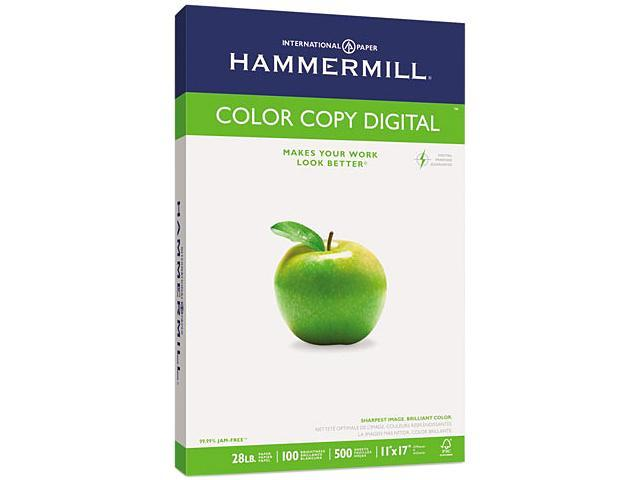 Hammermill 10254-1 Color Copy Paper, 100 Brightness, 28lb, 11 x 17, Photo White, 500/Ream