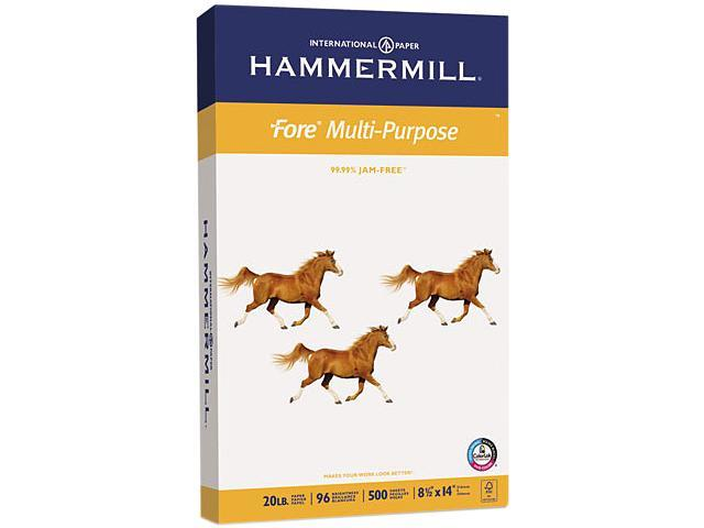 Hammermill 10329-1 Fore MP Multipurpose Paper, 96 Brightness, 20 lb, 8-1/2 x 14, White, 500/Ream