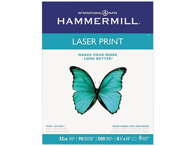 Hammermill 10464-6 Laser Print Office Paper, 98 Brightness, 32lb, 8-1/2 x 11, White, 500 Sheets/RM
