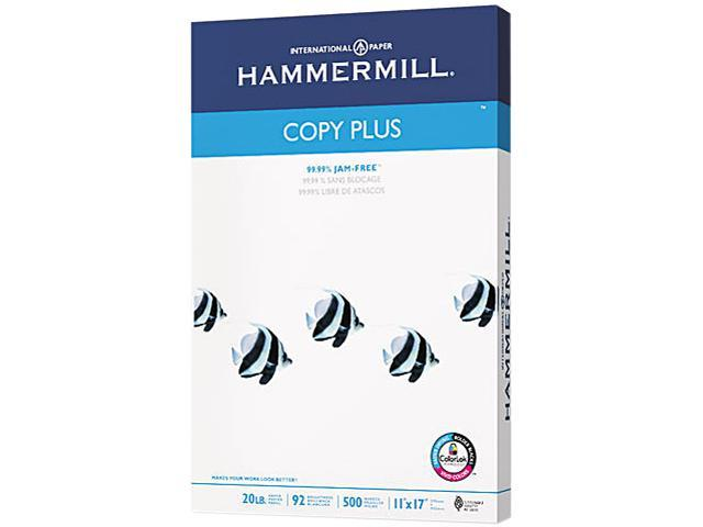 Hammermill 10502-3 Copy Plus Copy Paper, 92 Brightness, 20lb, 11 x 17, White, 500 Sheets/Ream
