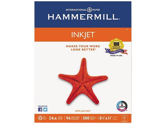 Hammermill 105050 Inkjet Paper, 96 Brightness, 24lb, 8-1/2 x 11, White, 500 Sheets/Ream