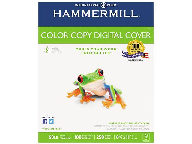 Hammermill 12254-9 Color Copy Digital Cover Stock, 60 lbs., 8-1/2 x 11, White, 250 Sheets