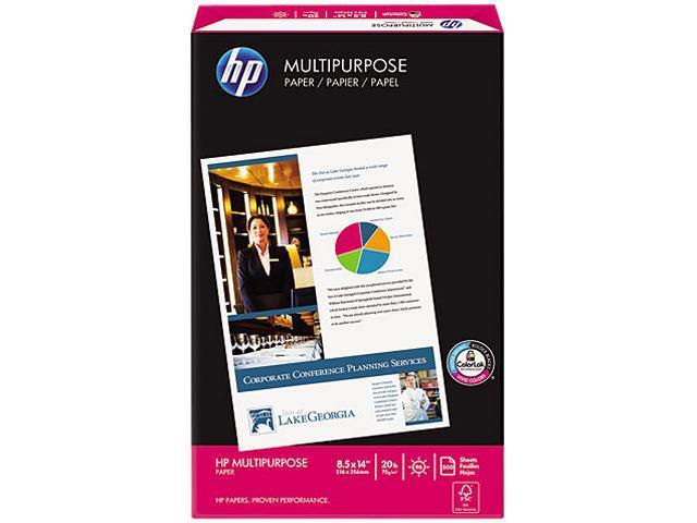 Hewlett-Packard 00142-0 Multipurpose Paper, 96 Brightness, 20lb, 8-1/2 x 14, White, 500 Sheets/Ream