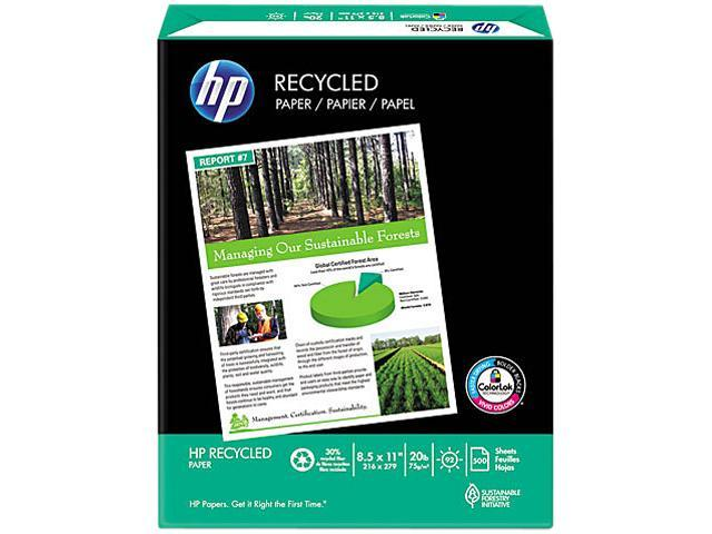 Hewlett-Packard 11210-0 Office Recycled Paper, 92 Brightness, 20lb, 8-1/2 x 11, White, 5000 Shts/Ctn