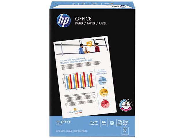 Hewlett-Packard 17200-0 Office Paper, 92 Brightness, 20lb, 11 x 17, White, 500 Sheets/Ream