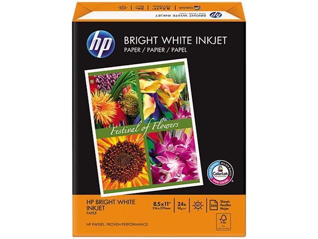 Hewlett-Packard 20300-0 Bright White Inkjet Paper, 97 Brightness, 24lb, 8-1/2 x 11, 500 Sheets/Ream