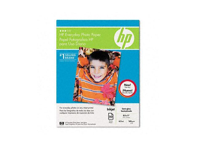Hewlett-Packard Q8723AND Everyday Photo Paper, Glossy, 8-1/2 x 11, 50 Sheets/Pack