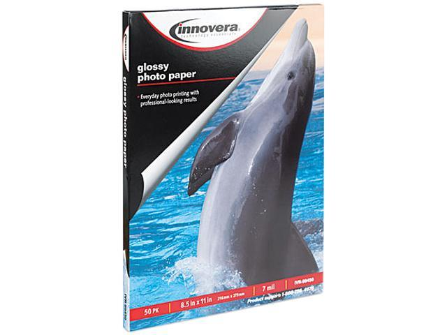 Innovera 99450 Glossy Photo Paper, 8-1/2 x 11, 50 Sheets/Pack
