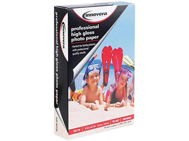 Innovera 99546 High-Gloss Photo Paper, 4 x 6, 100 Sheets/Pack