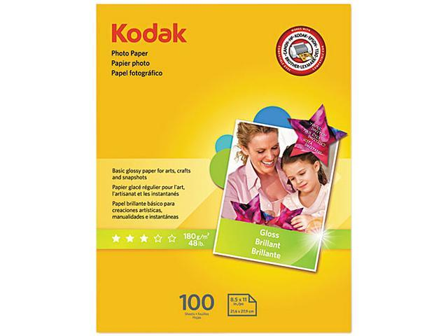 Kodak 8209017 Photo Paper, 6.5 mil, Glossy, 8-1/2 x 11, 100 Sheets/Pack