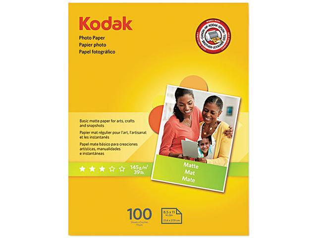 Kodak 8318164 Photo Paper, Matte, 7 mil, 8-1/2 x 11, 100 Sheets/Pack