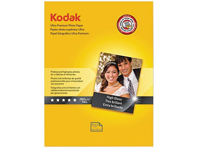 Kodak 8366353 Ultra Premium Photo Paper, 76 lbs., High-Gloss, 8-1/2 x 11, 25 Sheets/Pack