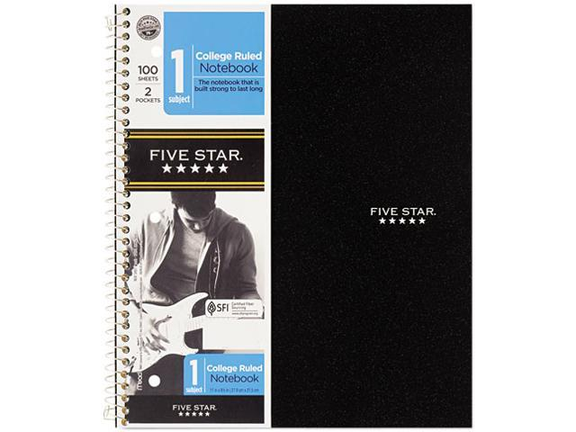 "Mead 06206 Five Star 1-Subject Notebook 100 Sheets 11"" x 8.50"" - 1Each - White Paper"