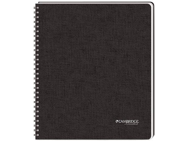 Mead 06100 Cambridge Black Hardbound Subject Notebook, Lgl Rule,96-Sheet Pad