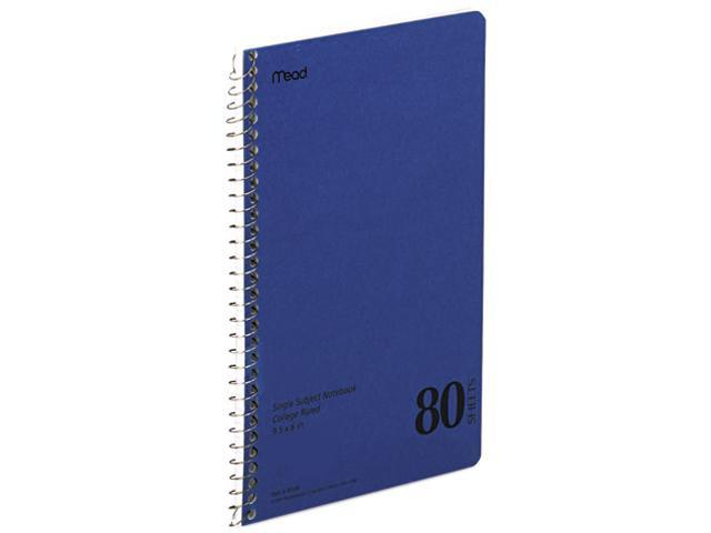 Mead 06544 Spiral Bound 1 Subject Notebook, College Rule, 6 x 9-1/2, WE, 80 Sheets/Pad