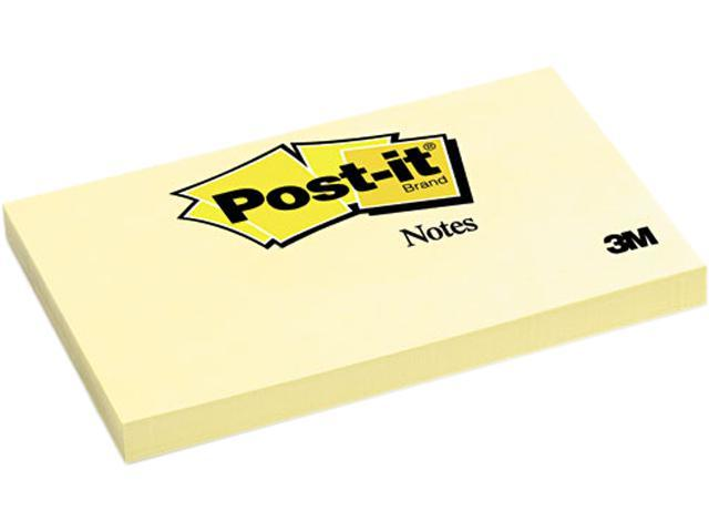 Post-it Notes 655-YW Original Notes, 3 x 5, Canary Yellow, 12 100-Sheet Pads/Pack