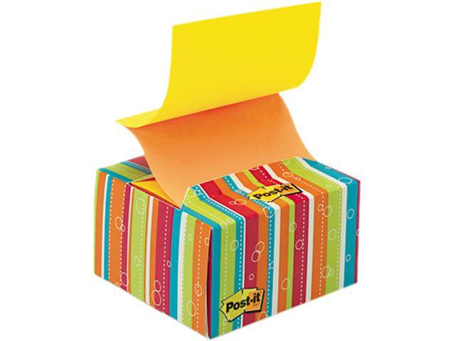 Post-it Pop-up Notes B330-BS Pop-up Notes in a Desk Grip Decorative Box, 3 x 3, Multicolor Stripes