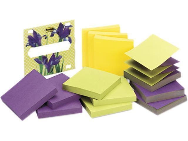 Post-it Pop-up Notes R330-LI-12 3D Pop-Up Disp Notes Refill, 3 x 3, Three Colors, 12 90-Sheet Pads/Pack