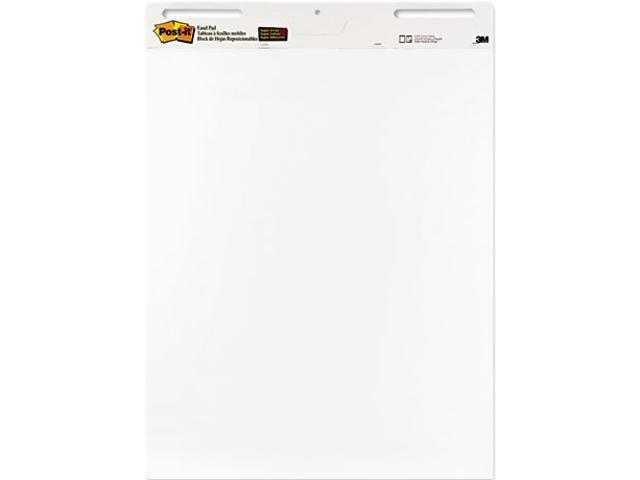 Post-it 559VAD6PK Self-Stick Easel Pads, 25 x 30, White, 6 30-Sheet Pads/Carton