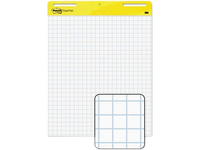 Post-it Easel Pads 560 Self-Stick Easel Pads, Quad Rule, 25 x 30, White, 2 30-Sheet Pads/Carton