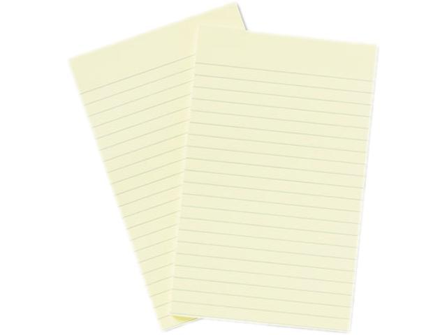 Post-it Notes 663-YW Original Notes, 5 x 8, Lined, Canary Yellow, 2 50-Sheet Pads/Pack