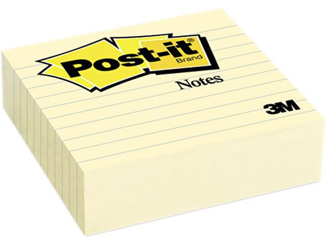 Post-it Notes 675-YL Original Lined Notes, 4 x 4, Canary Yellow, 300 Sheets