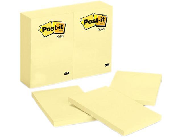 Post-it Notes 659-YW Original Notes, 4 x 6, Canary Yellow, 12 100-Sheet Pads/Pack