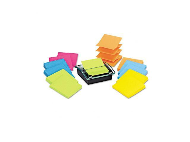 Post-it DS330-SSVA Super Sticky Pop-up Dispenser Value Pack, 3 x 3, Assorted