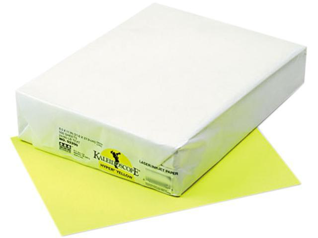 Pacon 102200 Kaleidoscope Multipurpose Colored Paper, 24lb, 8-1/2 x 11, Hyper Yellow, 500/Rm
