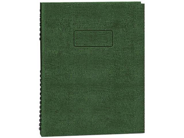 Blueline A10200EGRN Exec Wirebound Notebook, College/Margin Rule, 8-1/2 x 11, GRN, 200 Sheets