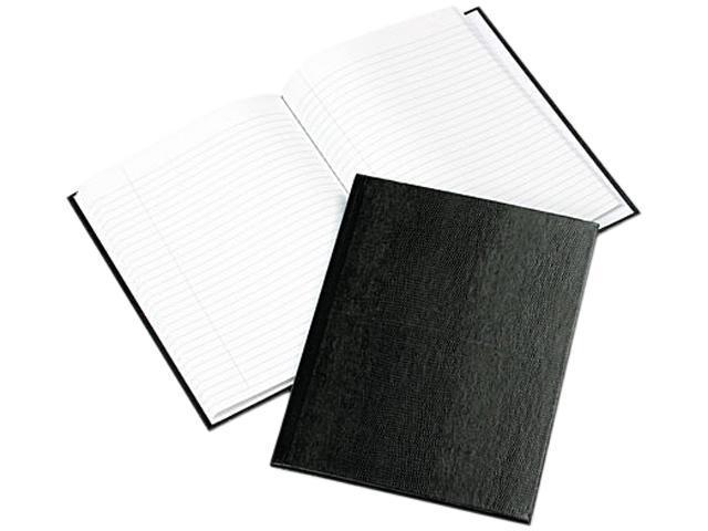 Blueline A7BLK Exec Notebook, College/Margin Rule, 9-1/4 x 7-1/4, WE/BLK, 75 Sheets