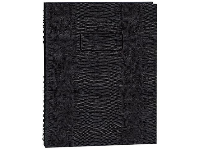 Blueline A7150EBLK Exec Wirebound Notebook, College/Margin Rule, 9-1/4 x 7-1/4, BLK, 150 Sheets