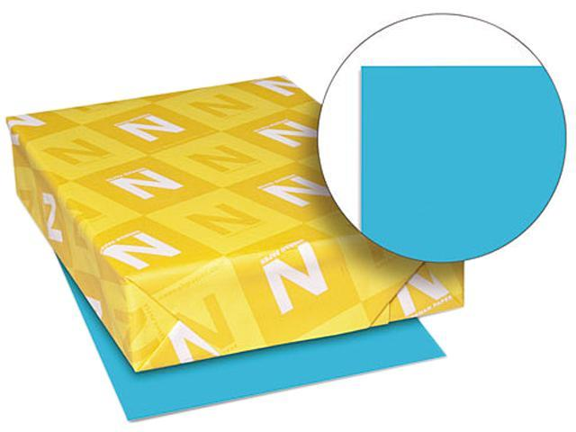Wausau Paper 22521 Astrobrights Colored Paper, 24lb, 8-1/2 x 11, Lunar Blue, 500 Sheets/Ream
