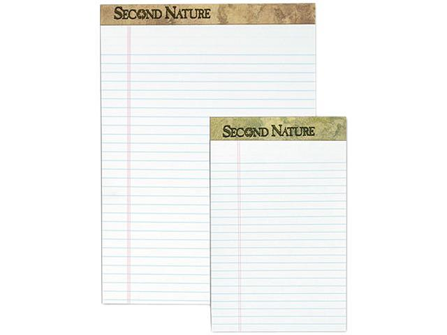 Tops 74085 Second Nature Recycled Letter Pads, Lgl/Red Margin Rule, WE, 50-Sheet, 12/Pack
