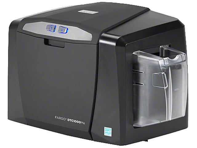 Fargo DTC1000Me Thermal Transfer Printer 6 seconds per card (K); 8 seconds per card (KO) 300 dpi Monochrome ID Card Printer & Encoder