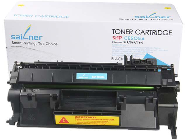 Sailner Compatible SHP-CE505A Toner Cartridge, alternative for HP OEM# CE505A