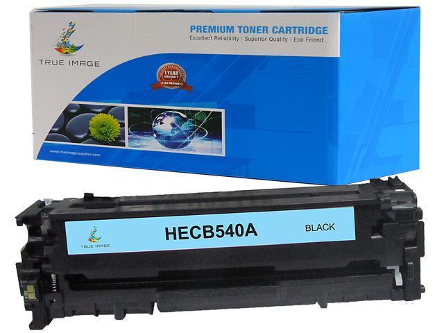TRUE IMAGE HECB540A-B125A Black Toner Cartridge Replaces HP B125A CB540A