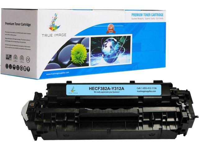 TRUE IMAGE HECF382A-Y312A Yellow Toner Replaces HP 312A CF382A, Single Pack, Page Yield 2,700