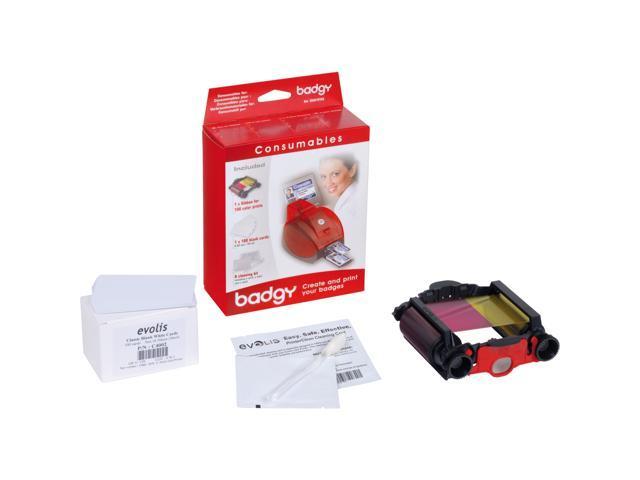 Evolis Badgy VBDG101EU Printer Consumable Kit