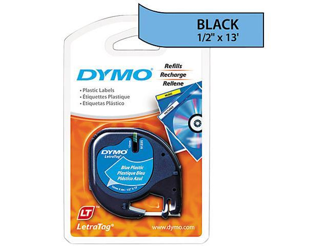 DYMO 91335 LetraTag Plastic Label Tape Cassette, 1/2in x 13ft, Ultra Blue
