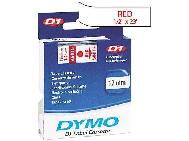 DYMO Red Print / White Tape