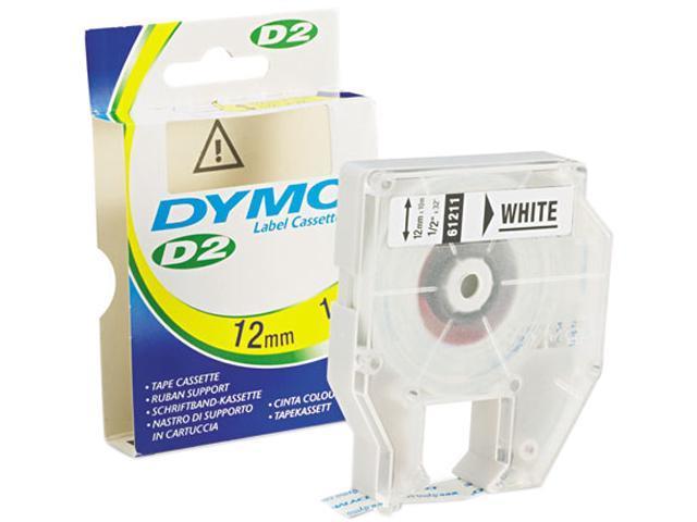 DYMO 61211 D2 Tape Cassette for Dymo Labelmakers 9000, 6000, PC-10, 1/2in x 32ft, White