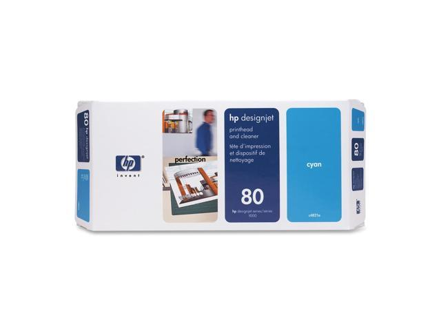 HP 80 Cyan Printhead and Cleaner for Designjet 1000(C4821A)