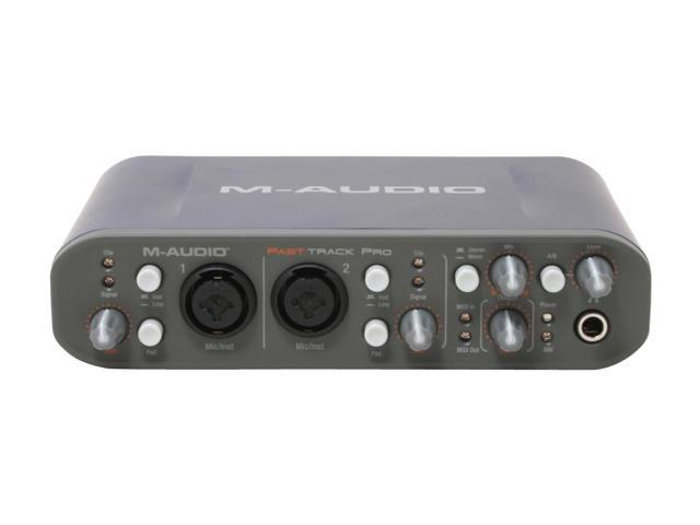 M-Audio Fast Track Pro 4 x 4 Mobile USB Audio/MIDI Interface with Preamps