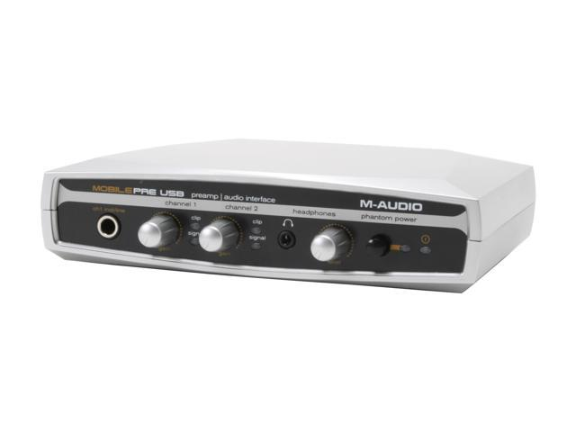 M-AUDIO MobilePre USB 16-bit 48KHz USB Interface USB Bus-Powered Preamp and Audio Interface