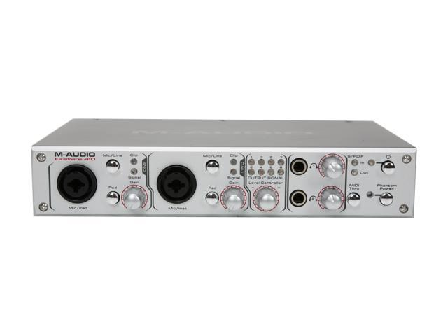 M-AUDIO FireWire 410 7.1 Channels 24-bit 192KHz 4-In-10-Out Mobile Recording Interface