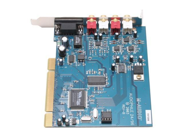 M-AUDIO Audiophile 2496 24-bit 96KHz PCI Interface 4-In-4-Out Professional Audio Card with MIDI