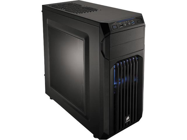 Corsair Carbide Series SPEC-01 (CC-9011056-WW) Black Steel ATX Mid Tower Blue LED Mid-Tower Gaming Case Compatible with ATX Power Supply